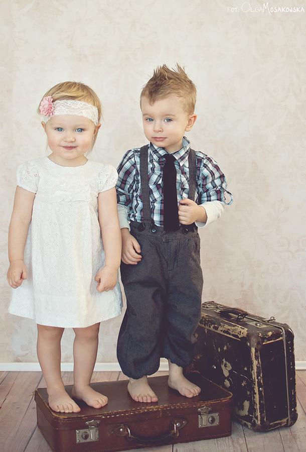 Sesja zdjęciowa, dziecięca, stylizowana - retro. Fotograf Olsztyn.
