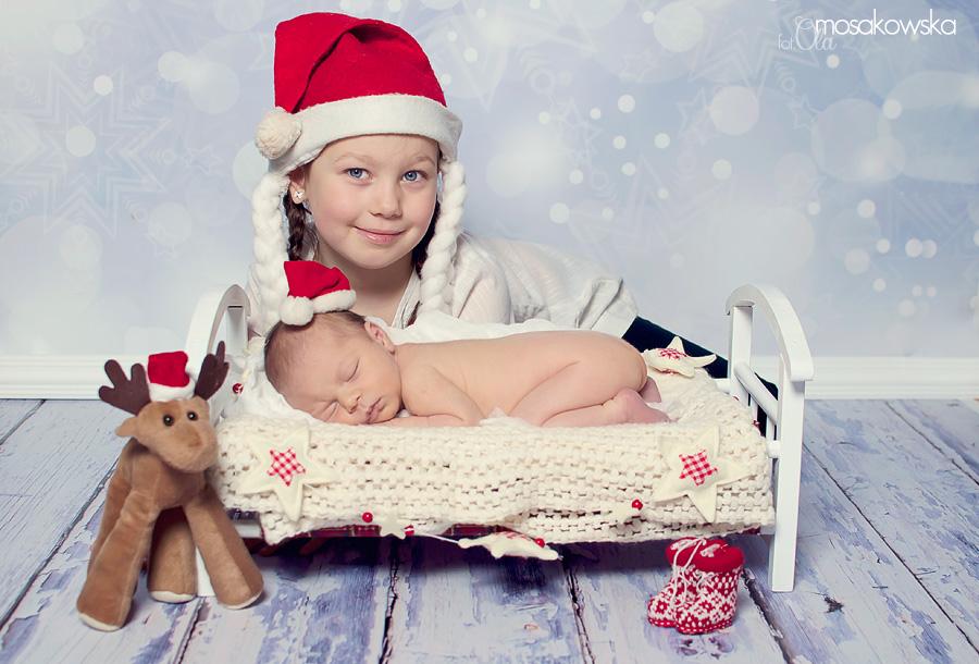 sesja świąteczna rodzeństwa