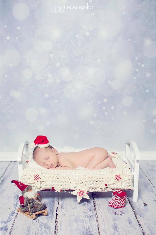 świąteczna sesja noworodkowa