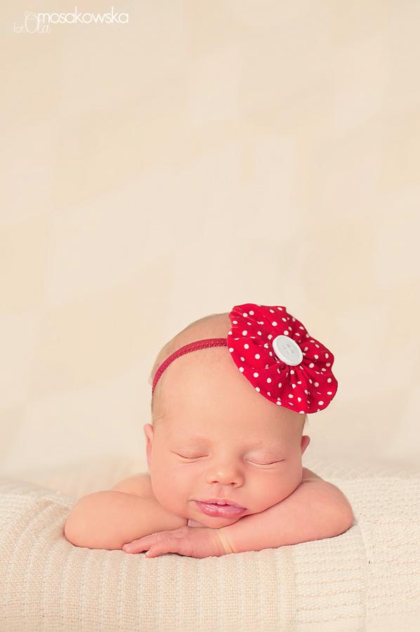 sesja zdjęciowa noworodka, niemowląt Olsztyn
