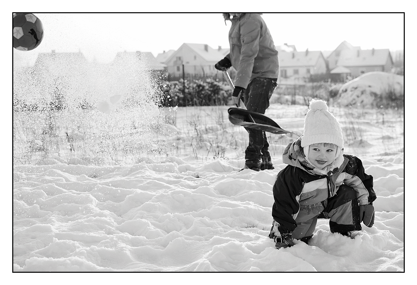 zdjęcia na śniegu Olsztyn